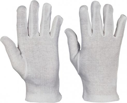 Rukavice bavlnené biele jemné 719