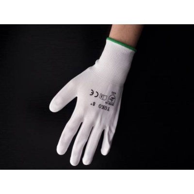 YOKO rukavice povrstvené biele